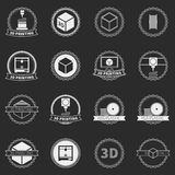 Vector set of 3D printer logos or icons Stock Photography