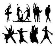 Vector set of dancing people Stock Photos