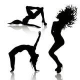 Vector set of dancing woman Stock Image