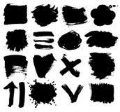 Vector set of dark blots Royalty Free Stock Photo