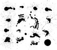 Vector set of dark blots Royalty Free Stock Photography