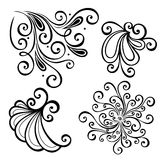 Vector Set of Deco Abstract Elements Royalty Free Stock Photos