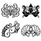 Vector Set of Deco Abstract Elements Royalty Free Stock Photo