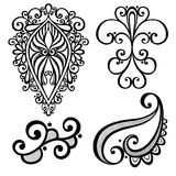 Vector Set of Deco Abstract Elements Royalty Free Stock Images