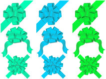 Vector set of decorative bows Stock Image