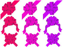 Vector set of decorative bows Stock Photos