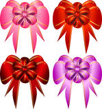 Vector set decorative bows. This image is a vector illustration and can be scaled to any size without loss of resolution. This image will download as a .eps file Royalty Free Stock Photo