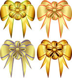 Vector set decorative bows. This image is a vector illustration and can be scaled to any size without loss of resolution. This image will download as a .eps Royalty Free Stock Image