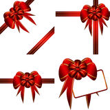 Vector set decorative bows. This image is a vector illustration and can be scaled to any size without loss of resolution. This image will download as a .eps Royalty Free Stock Photography