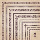 Vector set of decorative corner borders and frames Stock Photos