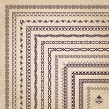 Vector set of decorative corner borders and frames Royalty Free Stock Images