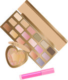 Vector set of decorative cosmetics for makeup on white background Stock Photo