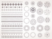 Vector set of decorative elements for design. Royalty Free Stock Photography