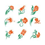 Vector set of  decorative elements for design. Royalty Free Stock Photos