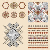 Vector set of decorative elements for fashion in ethnic style Royalty Free Stock Photos