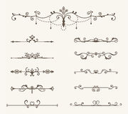 Vector set of decorative elements, line and page rules frame Stock Images
