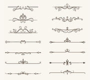 Vector set of decorative elements, line and page rules frame Stock Photography
