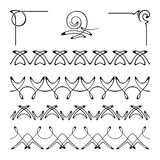 Vector set of decorative elements. Royalty Free Stock Images