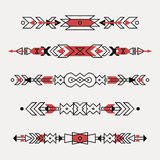 Vector set of decorative ethnic borders Royalty Free Stock Photo
