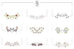 Vector set with decorative floral elements for your designs Stock Photography