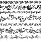 Vector Set of Decorative Floral Ornament Stock Images