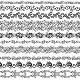 Vector Set of Decorative Floral Ornament Royalty Free Stock Images