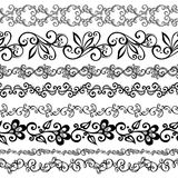Vector Set of Decorative Floral Ornament Royalty Free Stock Image