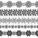 Vector Set of Decorative Floral Ornament Royalty Free Stock Photos