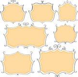 Vector set decorative frames Stock Photos