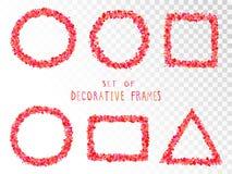 Vector set of decorative frames. Vector set of decorative frames with hearts stock illustration