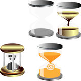 Vector set of decorative hourglass Royalty Free Stock Photos