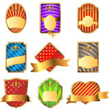 Vector set of decorative labels Stock Photography