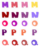 Vector set of decorative letters from the alphabet Royalty Free Stock Photos
