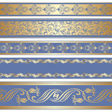 Vector set of decorative ribbon. Royalty Free Stock Images