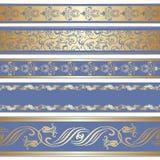 Vector set of decorative ribbon. stock illustration