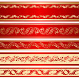 Vector set of decorative ribbon. Stock Photography