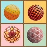 Vector set of decorative spheres Stock Photo