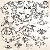 Vector set of decorative swirl elements for design Stock Image