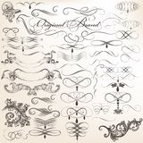 Vector set of decorative vintage elements for design royalty free illustration