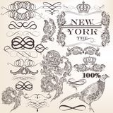 Vector set of decorative vintage elements and page decorations Stock Images