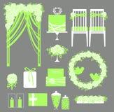Vector set of decorative wedding elements. Stock Photo