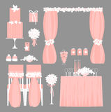Vector set of decorative wedding elements.. Royalty Free Stock Images