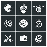 Vector Set of Delivery Icons.  Royalty Free Stock Photos
