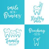 Set of dentistry posters for a dental clinic Stock Image