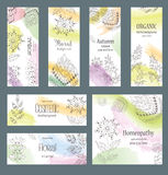Vector Set of Design Banners and Cards in trendy Linear Style for Package Stock Photo