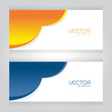 Vector set Design Colorful blue Orange cut on gray background Royalty Free Stock Images