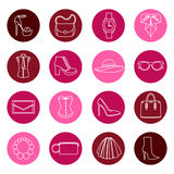 Vector set design concept of fashion accessories Stock Photography