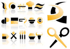 Vector set of design elements. Abstract vector illustration of several design and logo elements Royalty Free Stock Photos
