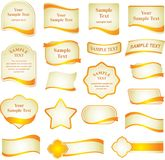 Vector set of design elements Royalty Free Stock Images