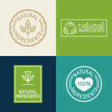 Vector set of design elements and badges for food and cosmetics Stock Image